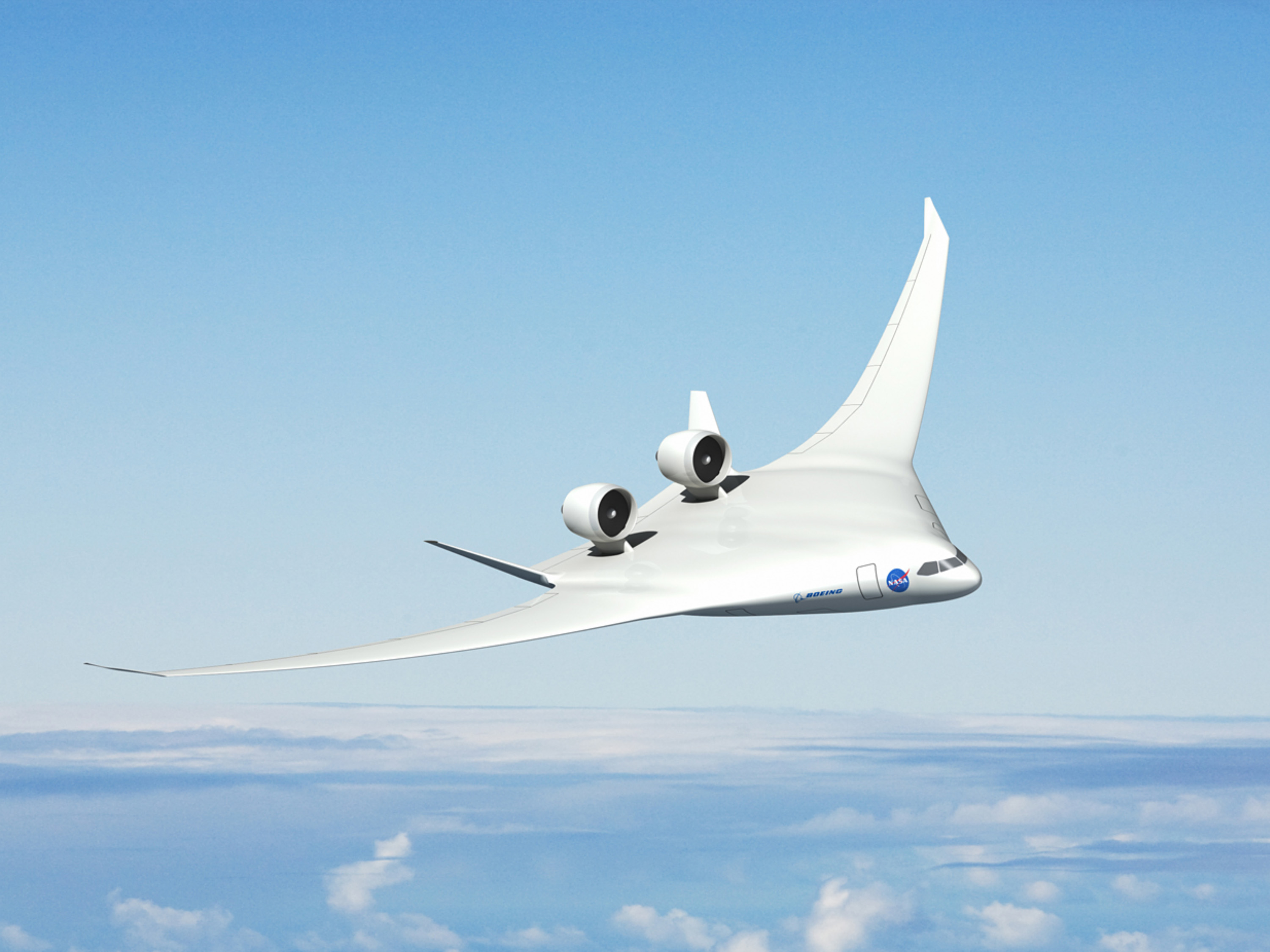 With the recent advances in technology and design aircraft concepts - 619090main_avc_boeing_concept_original_4x3_full Jpg The Boeing Company S Advanced Design Concept