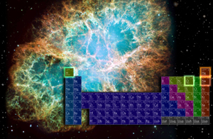 About thirty elements in the periodic chart have been detected in the interstellar medium.