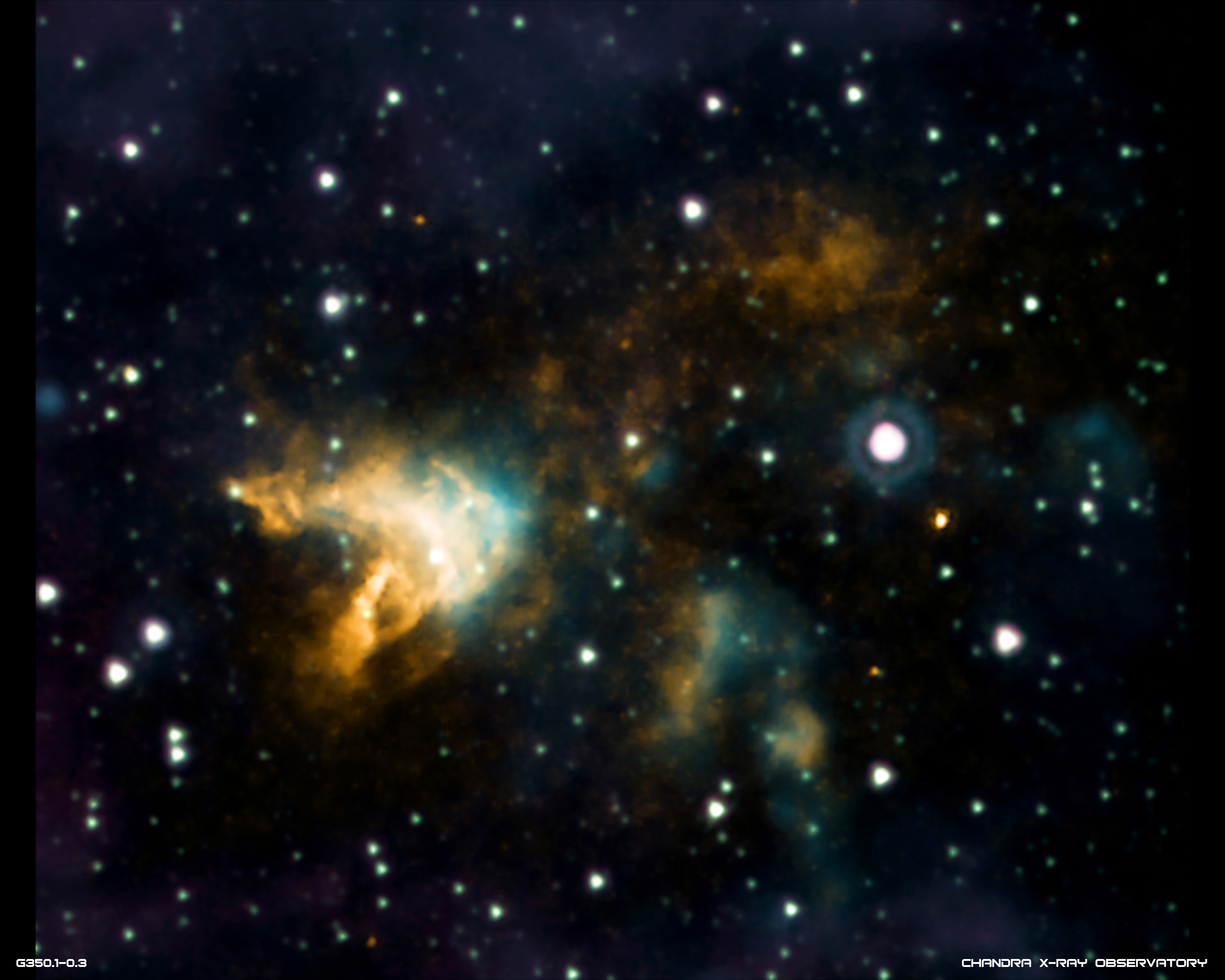 3e47eb7be Bright orange and white cloudlike bursts of material against deep space  with stars in background