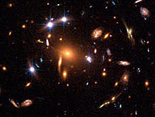 Example of gravitational lensing from Hubble