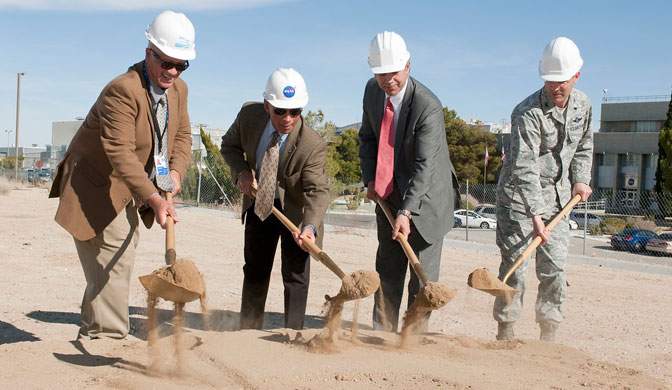Ceremonial groundbreaking for the new Facilities Support Center at NASA Dryden.