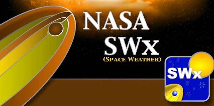 Logo for NASA space weather app for Android.