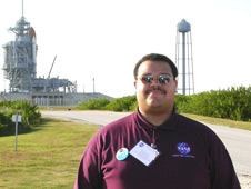 Marcellus at an October 2008 shuttle launch