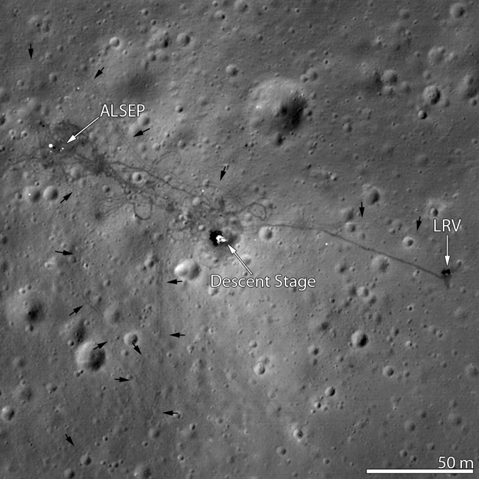 LRO view of Apollo 15 landing site