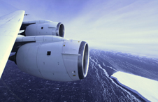 A view of the Pine Island Glacier ice shelf seen from NASA's DC-8 during an IceBridge survey flight in 2011.