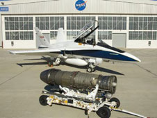 F404-400 engine and F-18 research aircraft.