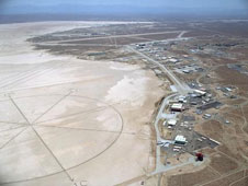 aerial photo of rogers dry lake bed