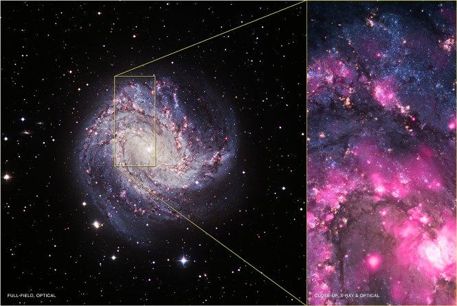 Black Hole Outburst in Spiral Galaxy M83 | NASA