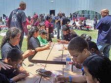 Middle-school students were immersed in science, technology, engineering and mathematics.