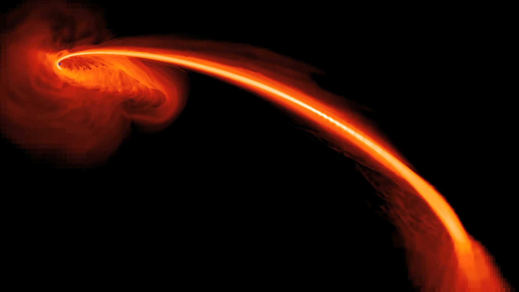 supermassive black hole sagittarius a  black hole caught in a stellar homicide
