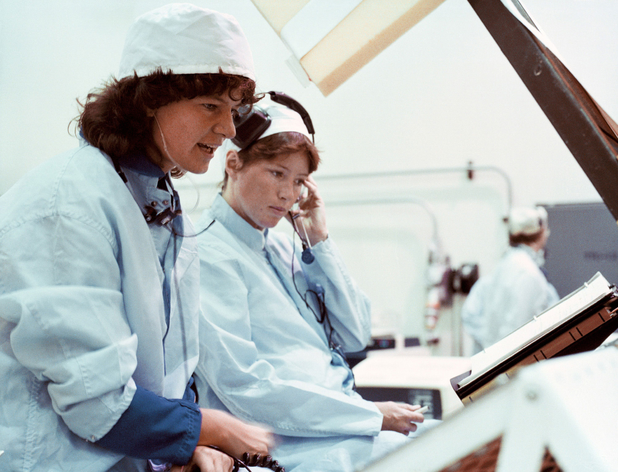 Sally Ride: First American Woman in Space timeline ... |Sally Ride Training