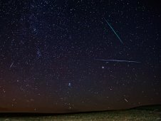 2011 Perseid meteor shower over Pawnee National Grasslands. Image copyright Michael Menefee, used with permission.
