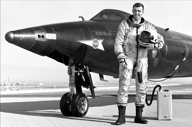 Air Force Maj. Gen. Joe Engle flew 16 research flights in the famed X-15 rocket plane in the 1960s; went on to fly the prototype space shuttle Enterprise during the Approach and Landing Tests and two orbital space shuttle missions.