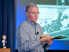 Retired test pilot and astronaut Maj. Gen. Joe Engle recounted the X-15's contributions to space flight during his Dryden colloquium.