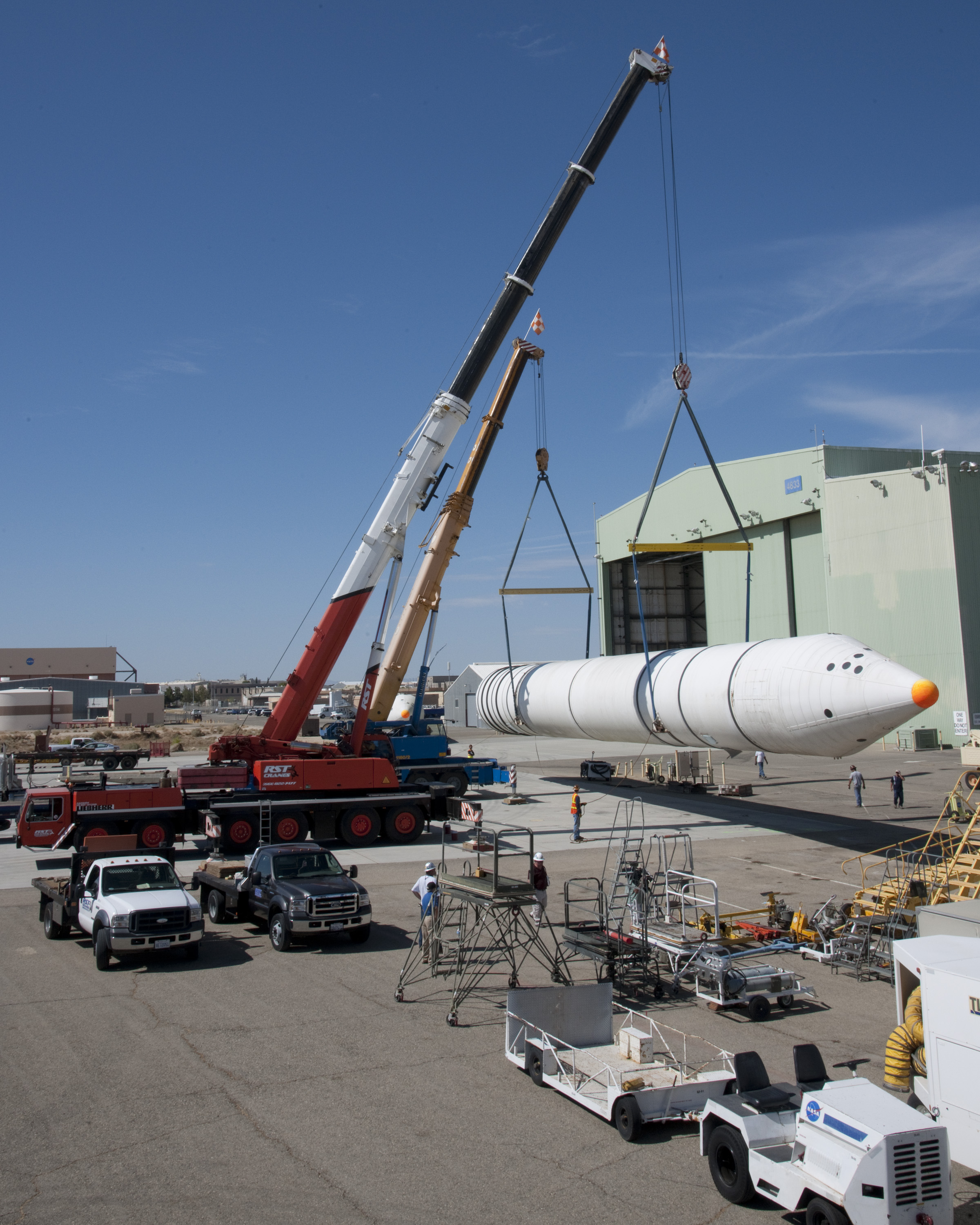 Solid Rocket Boosters Arrive at Dryden for Storage | NASA