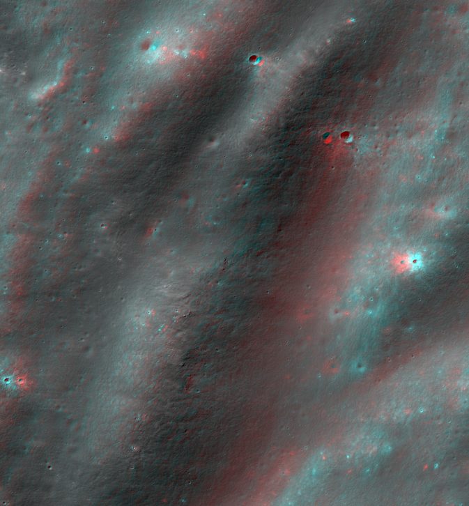 3-D image of portion of the Orientale basin on the moon