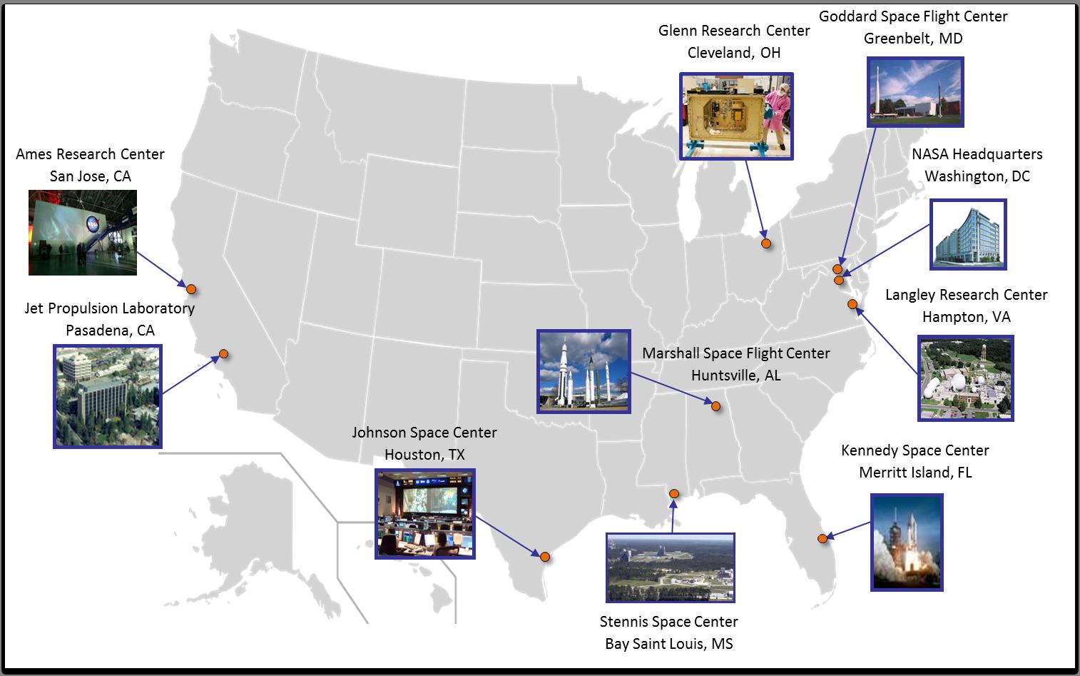 map of nasa space center in california - photo #22