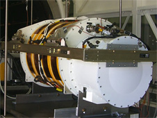 NASA's Langley Research Center performs thermal vacuum testing on the NAST-I sensor in order to better characterize expected in-flight airborne performance