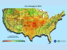 Accelerating analysis with NEX: Rapid assessment of the impacts of the 2012 summer drought in the United States on regional ecosystems.
