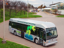 Cleveland's RTA carries passengers on a hydrogen fuel cell powered bus