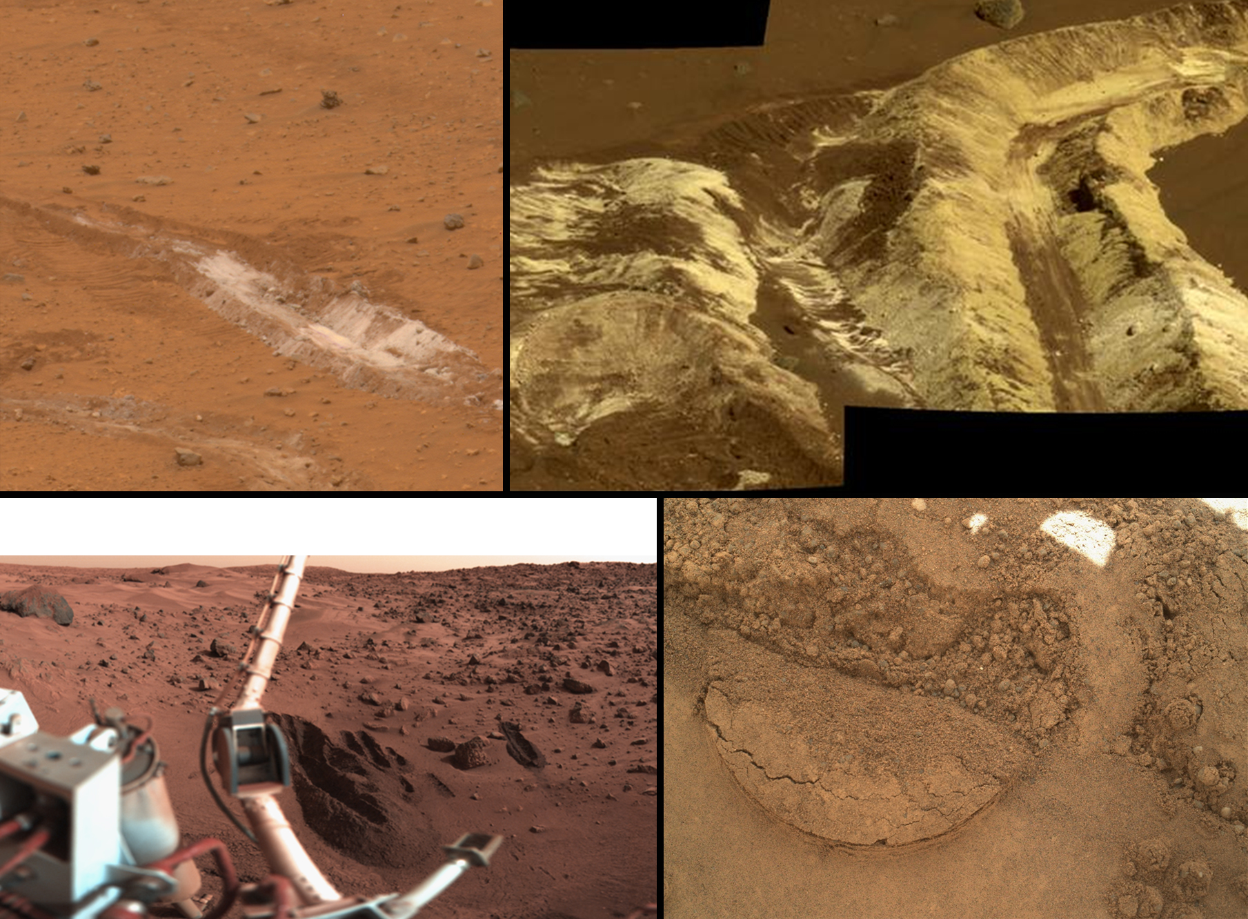 A sampling of martian soils nasa for Things made up of soil