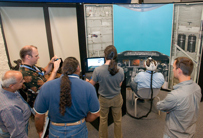 Dryden researchers had an opportunity to fly the Fused Reality system during a presentation at Dryden this summer.