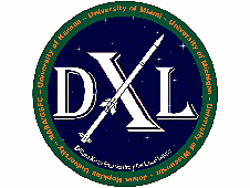 U of Miami's Diffuse X-Ray emission from the Local galaxy (DXL) logo.