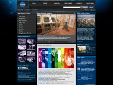 A screen capture of the new look for the Ames home page.