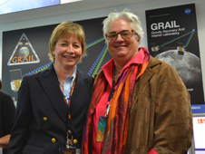 GRAIL principal investigator Maria Zuber (left) and Bear Ride