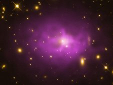 A large elliptical galaxy at the center of the galaxy cluster PKS 0745 19