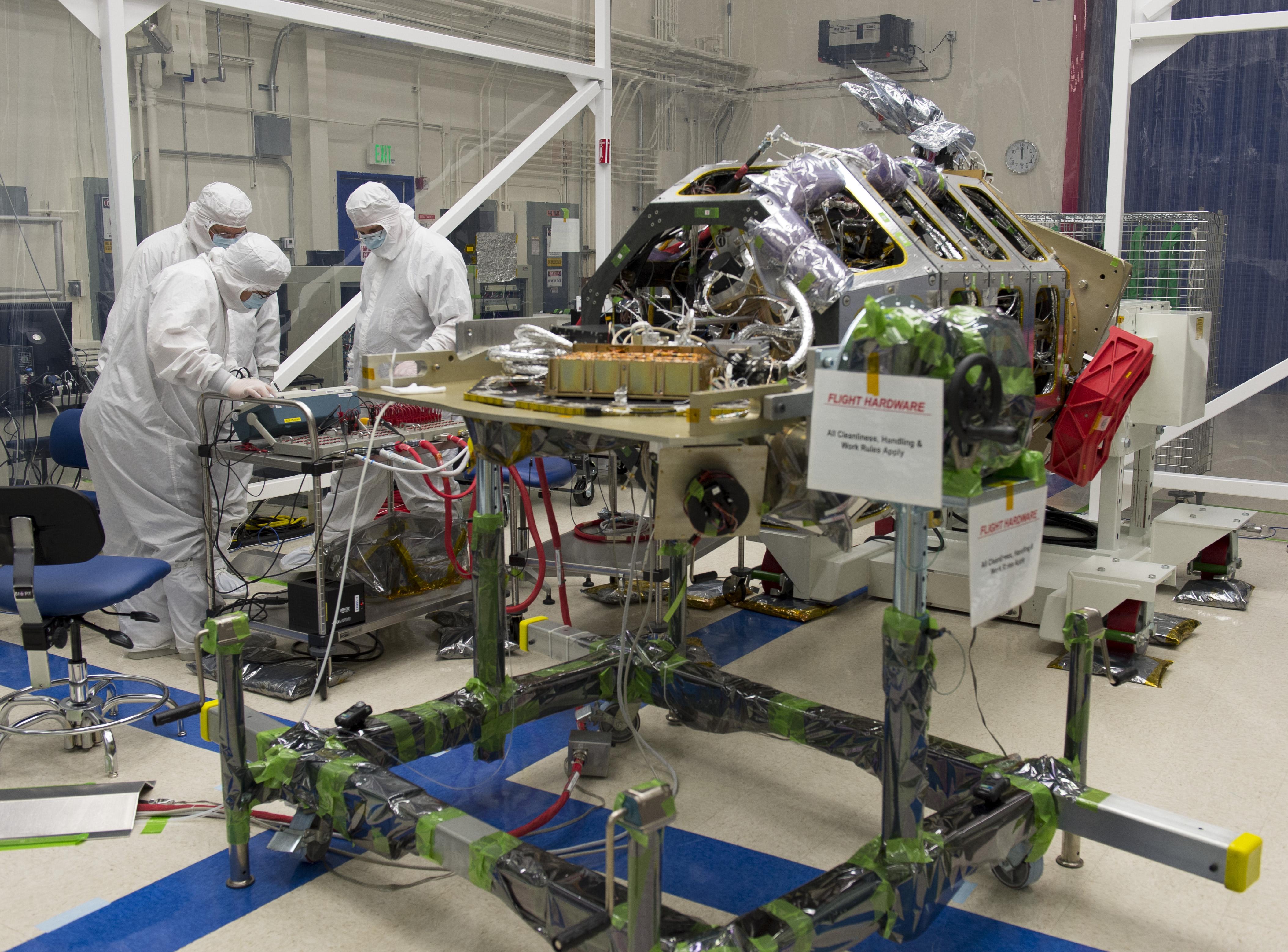 LADEE Thermal Vacuum Preparation   NASA