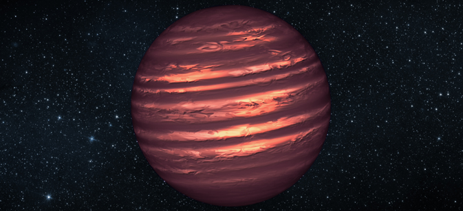 Artist's conception illustrates the brown dwarf named 2MASSJ22282889-431026