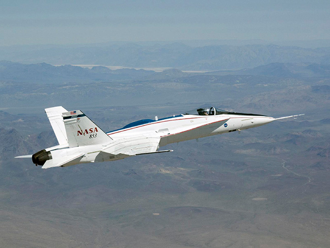 Dryden's F/A-18A Full Scale Advanced Systems Testbed aircraft recently completed flying the Intelligent Control for Performance research project.