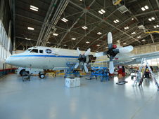 A P-3B turboprop from NASA Wallops will fly close to the ground to measure air pollution during the month-long DISCOVER-AQ mission in California. Credit: NASA Wallops/Patrick Black