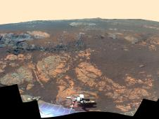 'Matijevic Hill' Panorama for Rover's Ninth Anniversary (False Color)