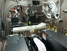 View of the Selectable Optical Diagnostics Instrument - Influence of Vibrations on Diffusion of Liquids (SODI-IVIDIL) investigation in the Microgravity Science Glovebox (MSG) in the Columbus module of the International Space Station. (NASA)