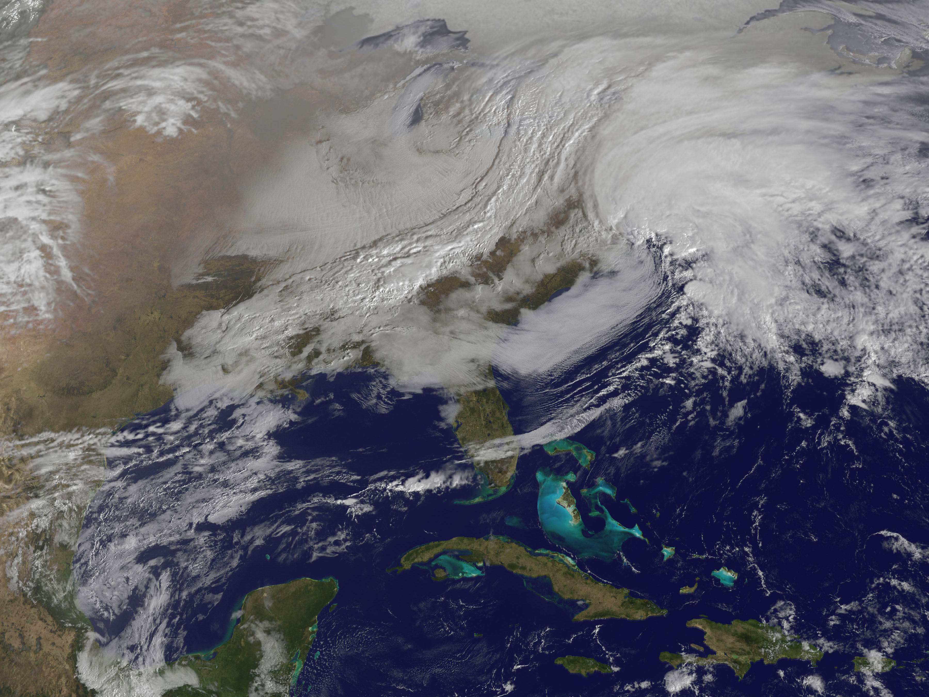 Powerful Nor'easter Coming Together | NASA