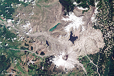 Landsat captured the extent of, and recovery from, the destruction from the 1980 Mount St. Helens eruption.