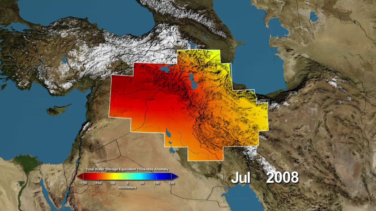 NASA NASA Satellites Find Freshwater Losses In Middle East - Tigris and euphrates river map