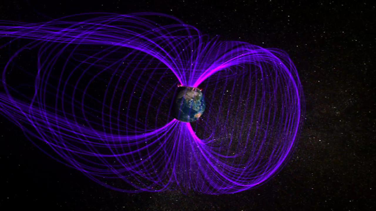 पृथ्वी के बारे में देखें उसका चुंबकीय क्षेत्र