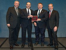 Don Pettit (second from left), NASA astronaut and chemical engineer, was honored with a 2013 Federal Engineer of the Year Award (FEYA) at this year's 34th Annual FEYA Awards Ceremony on Feb. 21 at the National Press Club in Washington. (NASA)