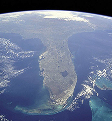 Florida, seen during space shuttle mission STS-95 on Oct. 31, 1998. Credit: NASA