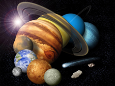 Montage of our solar system