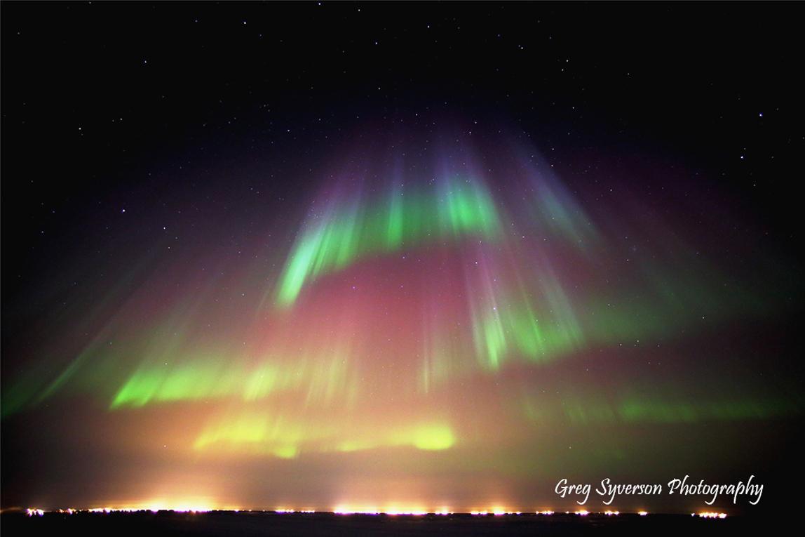 Rainbow Aurora Over Prudhoe Bay, Alaska   NASA