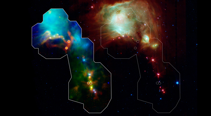 Astronomers have found some of the youngest stars ever seen thanks to the Herschel space observatory