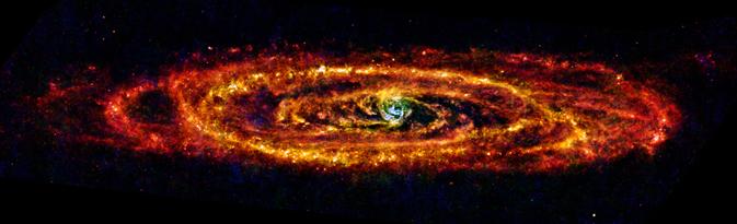 nasa cool space galaxy andromeda herschel gov infrared completes journey its milky way