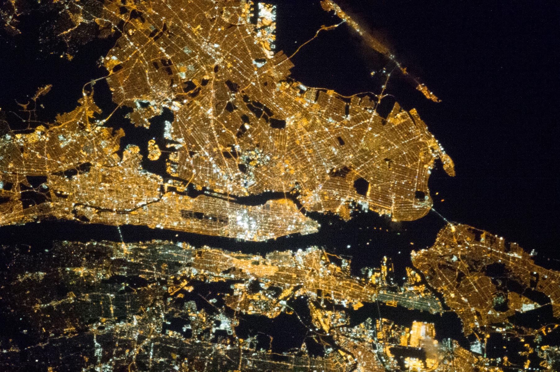 New York City At Night Nasa