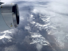 view from a DC-8 over Tierra del Fuego