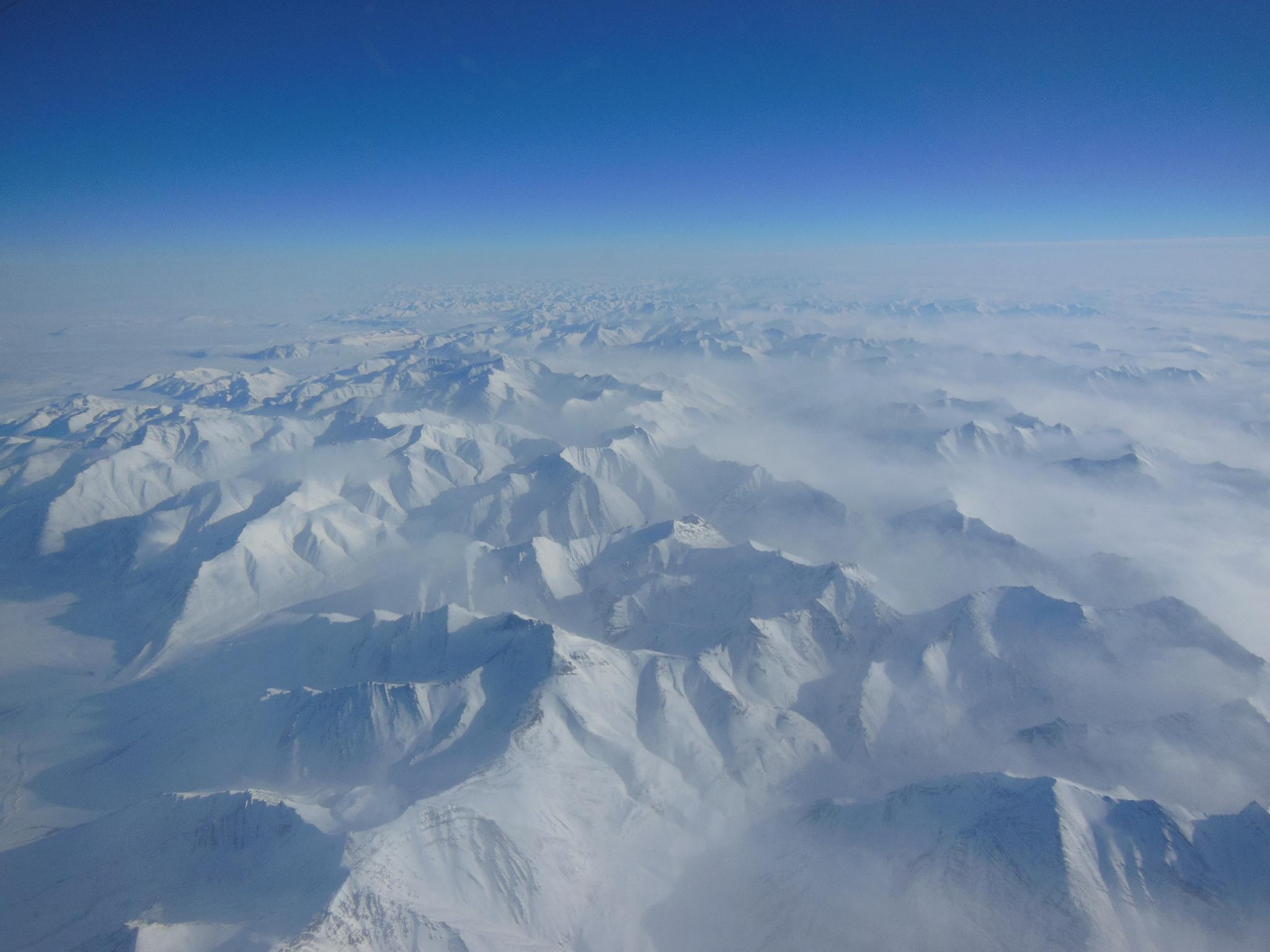 Alaskan Mountains Seen During IceBridge Transit   NASA