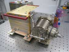 The Neutral Gas and Ion Mass Spectrometer instrument, shown here at NASA's Goddard Space Flight Center in Greenbelt, Md.